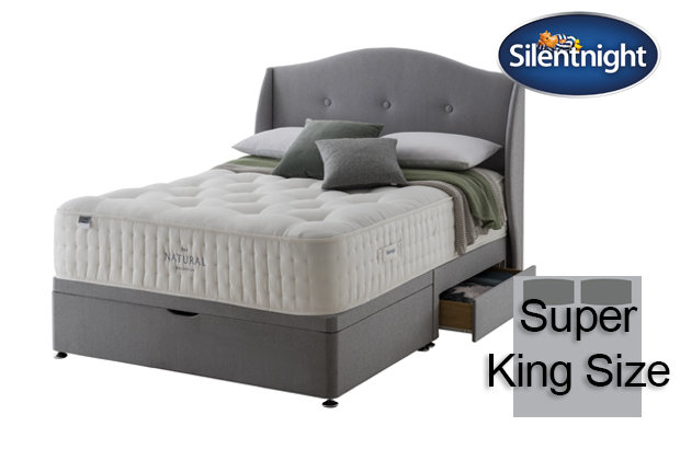 Silentnight Mirapocket Cello Natural 2000 Super King Size Divan Bed