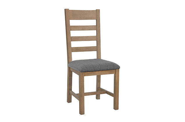 Toulouse Slatted Dining Chair (Grey Check)