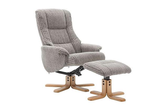 Florida Swivel Recliner Chair & Footstool