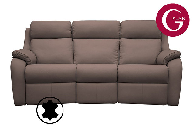 G Plan Kingsbury Leather Curved 3 Seater Sofa
