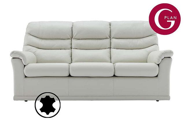 G Plan Malvern Leather 3 Seater (3 Cushion) Sofa