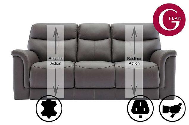 G Plan Harrison Leather 3 Seater Recliner Sofa (3 Cushion)