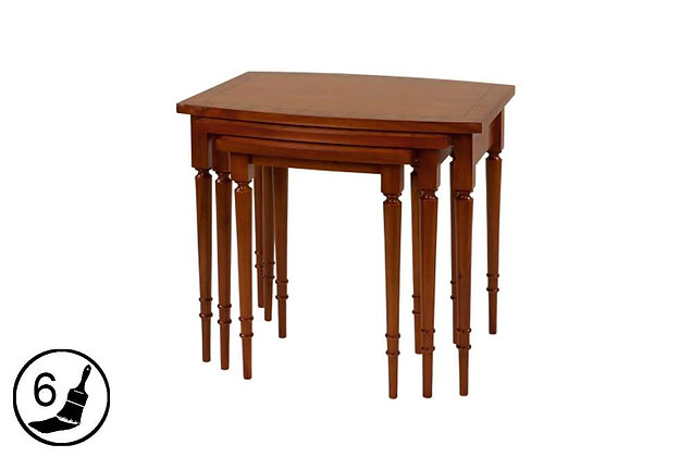 Simply Classical Barrel Top Nest Of 3 Tables
