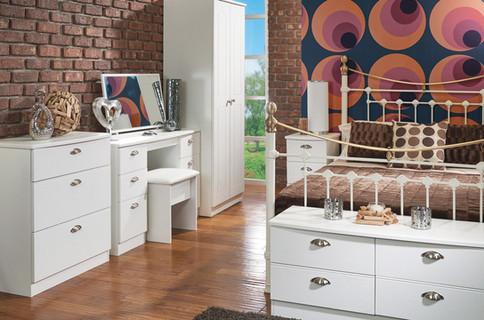 Wimborne Bedroom Furniture Range in White Ash