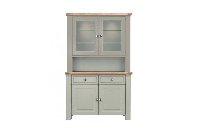Bretagne 2 Door Dresser – Rockford Grey with Natural Tops