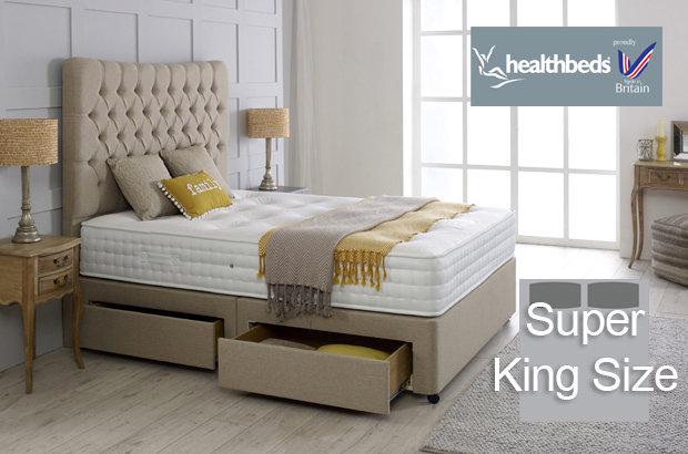 Healthbeds Enviro-Lux 1400 Super King Size Divan Bed