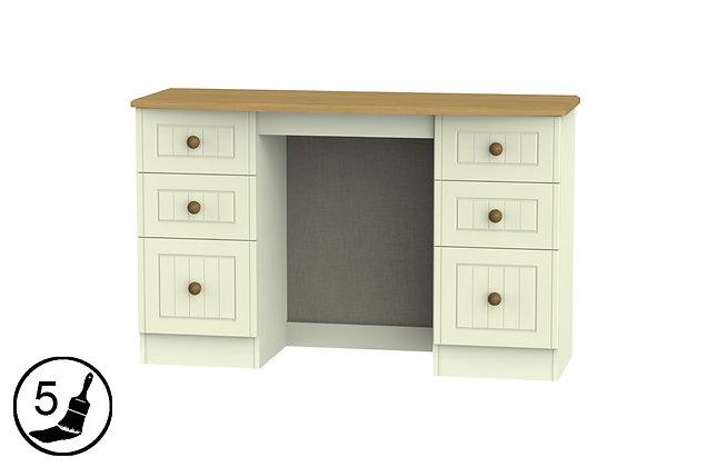 Solent 6 Drawer Kneehole Dressing Table