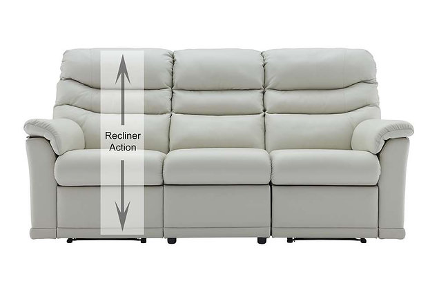 G Plan Malvern Leather Left Hand Facing Single 3 Seater Recliner Sofa