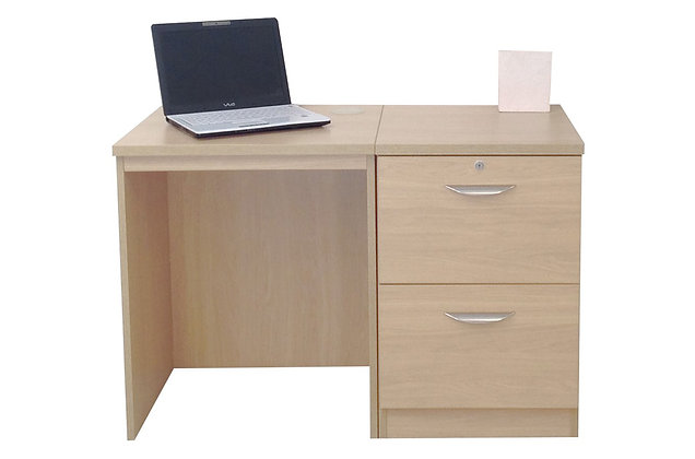 Set 4 – Desk with File Drawer Unit