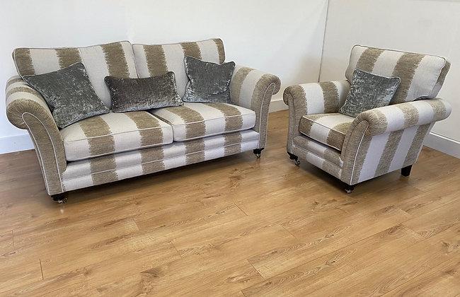 Lowry Large Stripe 3 Seater Sofa & Armchair