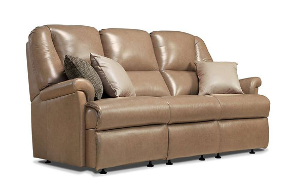 Sherborne Milburn Leather Small 3 Seater Sofa