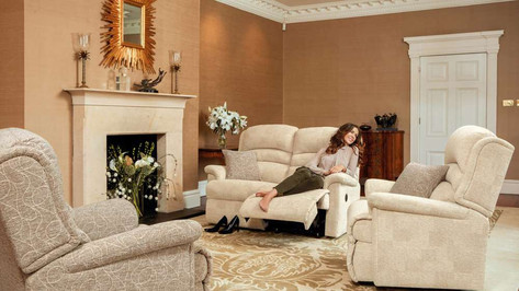 Sherborne Olivia Armchair, Recliner Chair and 2 Seater Manual Recliner Chair