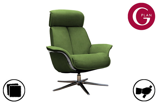 G Plan Lund Swivel Recliner Chair & Footstool