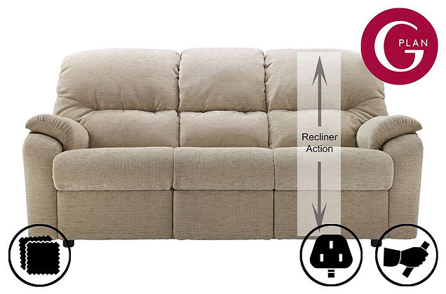 G Plan Mistral 3 Seater Right Hand Facing Single Recliner Sofa