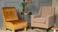 Alstons Reuben Accent Chair & Armless Accent Chair