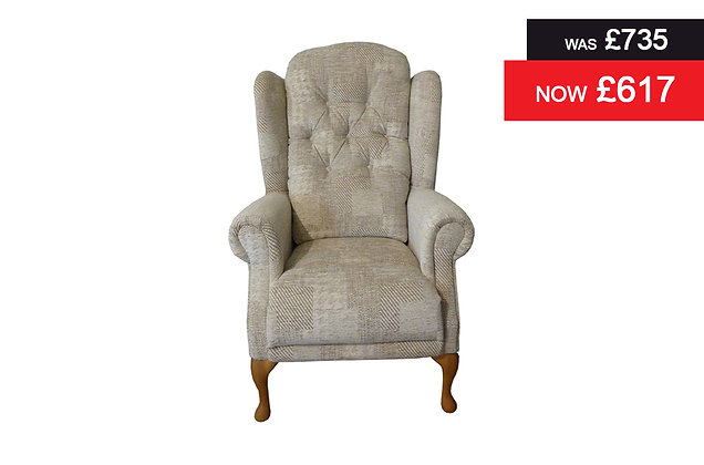 Abbey Standard Chair - Patchwork Oatmeal