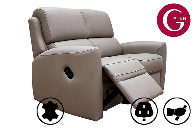 G Plan Hamilton Leather 2 Seater Recliner Sofa