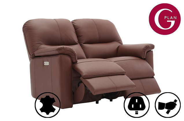 G Plan Chadwick Leather 2 Seater Double Recliner Sofa