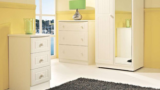 Solent Cream Bedroom Furniture, Wardrobes, Chest sof Drawers, Bedside Cabinets, Dressing Tables, Stool, Mirrors & Ottomans | Gordon Busbridge Furniture Store | Hastings, Eastbourne, Seaford & Bexhill