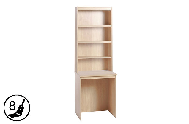R White B-DLK-OD – Small Desk with Hutch