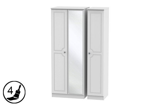 Clifton Triple Wardrobe with Mirror