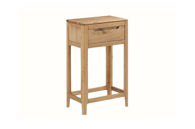 Demure Oak Small Console Table