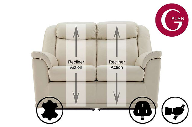 G Plan Milton Leather 2 Seater Recliner Sofa