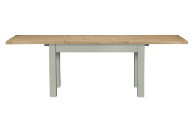 Bretagne 160cm Extending Dining Table – Rockford Grey with Lacquered Top