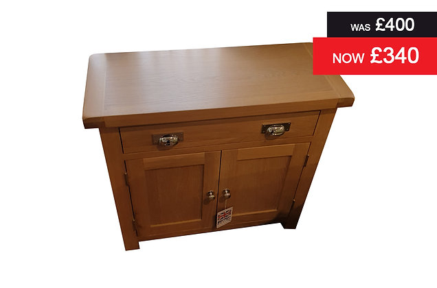 Small 1 Drawer, 2 Door Sideboard - Lime Wash Oak