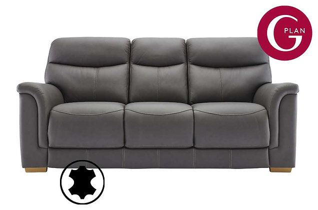 G Plan Harrison Leather 3 Seater Sofa (3 Cushion)