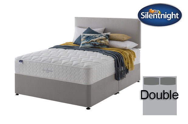 Silentnight Miracoil Sage Eco Comfort Double Divan Bed