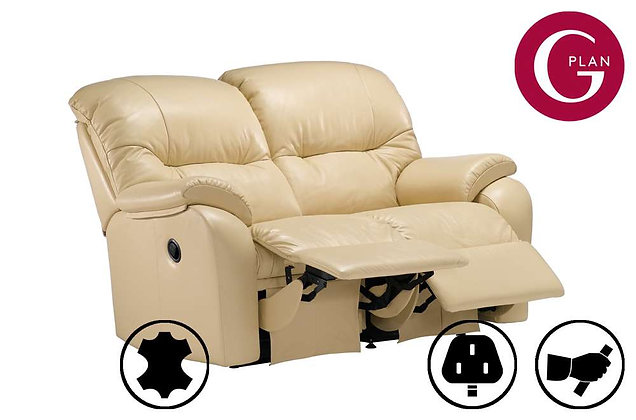 G Plan Mistral Leather 2 Seater Double Recliner Sofa
