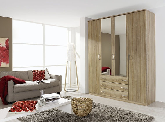 Blitz 3 Drawer 4 Door Combination Wardrobe