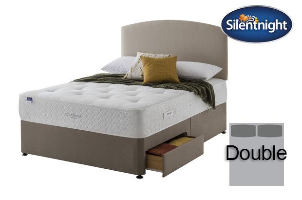Silentnight Miracoil Saffron Eco Comfort Double Divan Bed