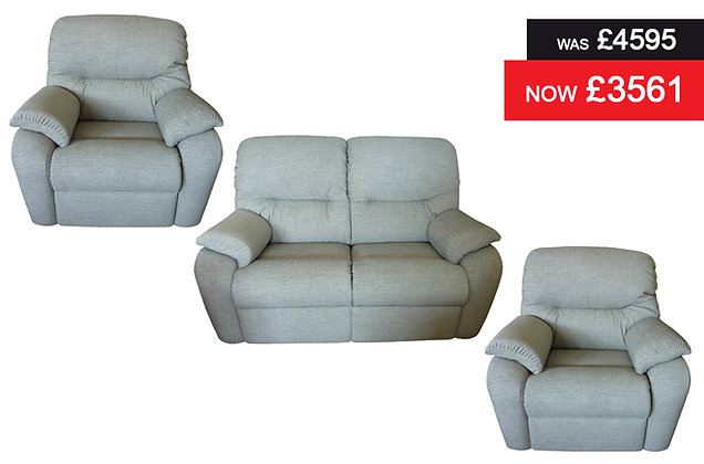 G Plan Mistral 2 Seater Sofa plus 2 Standard Chairs - Reef Ash