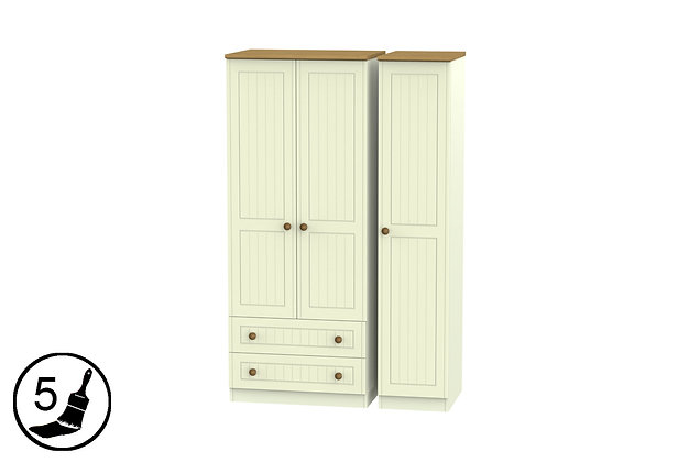 Solent 2 Large Drawer Triple Wardrobe