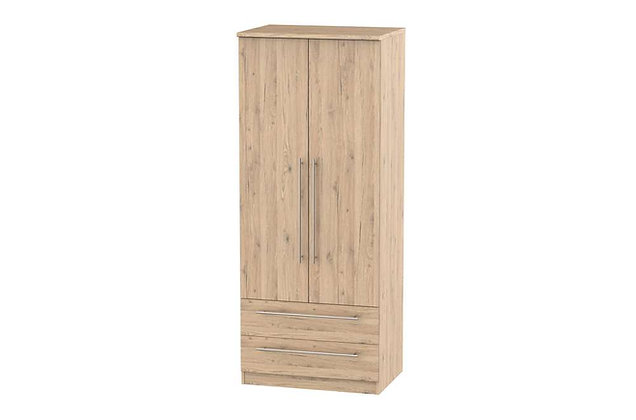 Wessex 2ft6in 2 Drawer Wardrobe