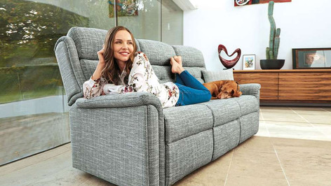 Tara 3 Seater Fabric Sofa