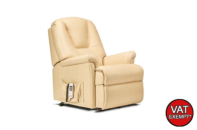 Sherborne Milburn Leather Petite Lift & Rise Care Recliner Chair