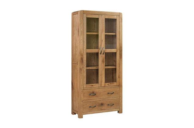 Capricorn Oak Large Display Cabinet