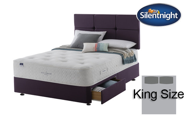 Silentnight Mirapocket Aria Eco Comfort 1200 King Size Divan Bed