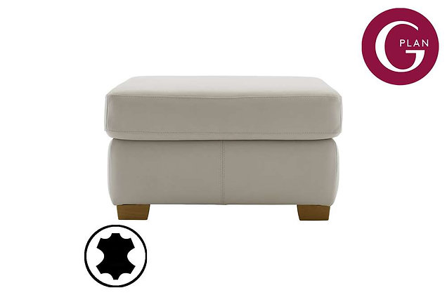 G Plan Washington Leather Footstool