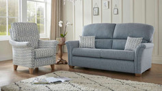 Buckingham Fabric 3 Seater Sofa and Accent Chair