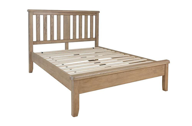 Toulouse 150cm King Size Bedstead - Wooden Headboard Low End