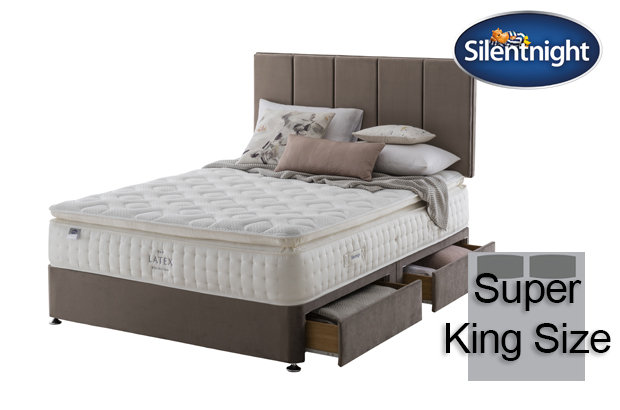 Silentnight Mirapocket Sublimate Latex 2400 Super King Size Divan Bed