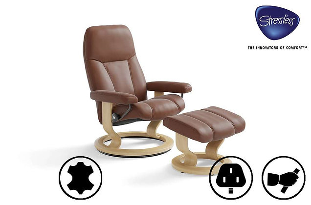 Ekornes Stressless Consul Swivel Recliner Chair