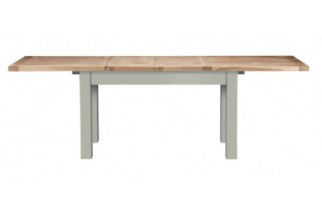 Bretagne 160cm Extending Dining Table – Rockford Grey with Natural Top