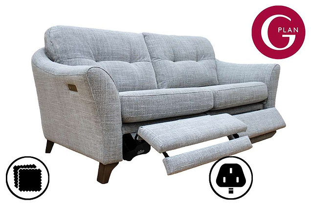 G Plan Hatton 3 Seater Standard Back Sofa With Power Foot Rest