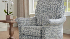 Buckingham Patterned Fabric Accent Chair