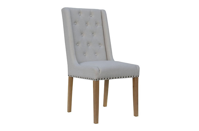 Winged Dining Chair – Natural